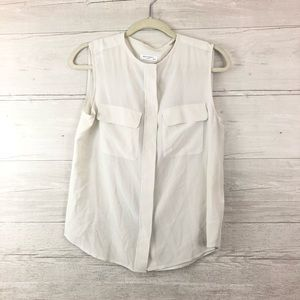 Equipment Femme Silk Sleeveless Top Size XS